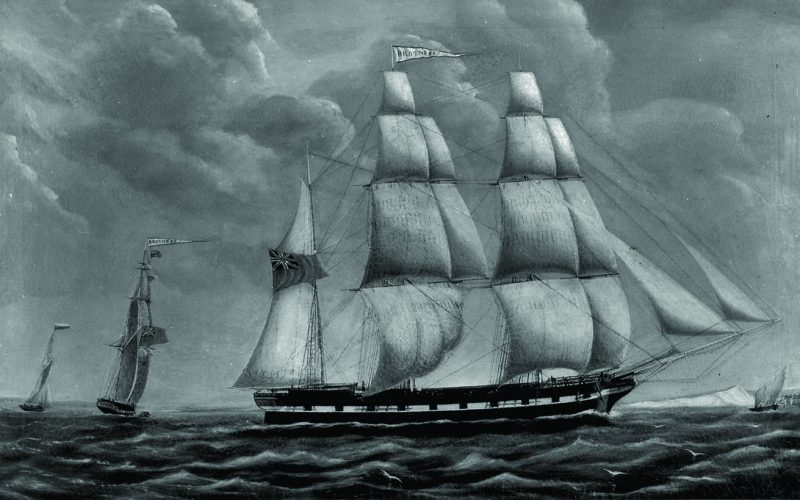 Port After Stormie Seas: Sailing Ship 'Brothers'